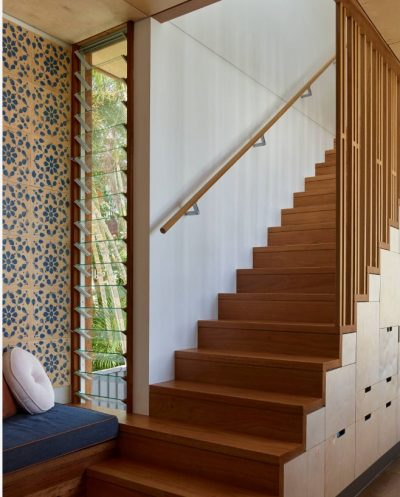 Stair case at Rosalie Plinth House by Arcke Pty Ltd