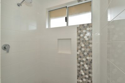 Hexagon Feature Tile in Bathroom, Perth Mindful Homes Custom Builder